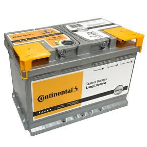 Autobatterie Continental 12V 80Ah 750A Starterbatterie Batterie 72Ah 74Ah 75Ah