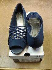 Womens East 5th - EF Grace Navy Wedge Slip On Flats Size 7.5 M - New with Box