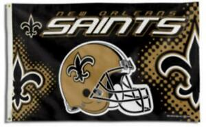 Saints FLAG 3X5 New Orleans Banner American Football Helmet Fast Shipping New.