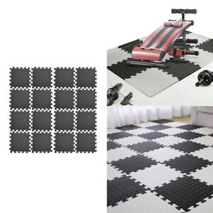 16Pieces Floor Mat Protector Interlocking Puzzle Foam Gym Fitness Exercise