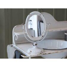 Chic Antique Standspiegel Spiegel Kippspiegel Kosmetikspiegel weiß Metall Shabby