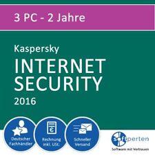 Kaspersky Internet Security 2016 (auch f. 2017), 3 PC - 2 Jahre, Vollversion, ES