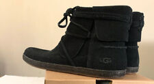UGG REID 1019129 BLACK, WOMAN'S BOOTS/ BOOTIES 100% AUTHENTIC NEW, SIZE 9