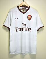 NIKE ARSENAL 2007/08 FLY EMIRATES VINTAGE FOOTBALL SOCCER SHIRT JERSEY size M