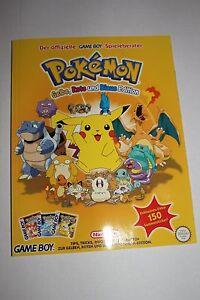 POKEMON Gelbe, Blaue und Rote Edition - original NINTENDO Spieleberater