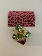 Betsey Johnson Multi-Color Enamel Flower Strawberry Brooch Pin-BJ84000
