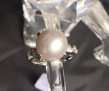 Platinum Ring with Stunning Sea Cultured Pearl & Diamonds, Valued at $7500.00!!