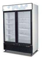 Migali C-49RM UPRIGHT REACH IN TWO (2) HINGED GLASS DOOR COOLER - WARRANTY