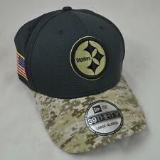 Authentic New Era Pittsburgh Steelers Salute to Service Hat Men's 2016 NFL Cap