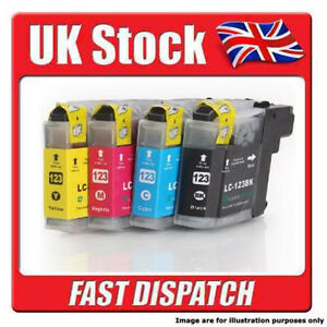 BLACK / MAGENTA / YELLOW / CYAN Brother LC123 Ink Cartridges For Printers.