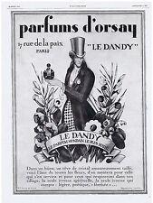 PUBLICITE ADVERTISING 044 1928 L ILLUSTRATION Les Parfums d'Orsay 'Le Dandy'