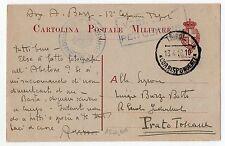 1918 LIBIA CARTOLINA POSTALE MILITARE TRIPOLI 13/4 C/3636