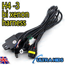 H4-3 Hi/Lo HID REPLACEMENT HARNESS FOR H4-3 HID KITS Battery Loom low kit fuse