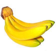 Bunch of 5 Artificial Bananas - Decorative Plastic Fake Fruit
