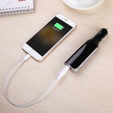 2-Port USB Power Bank Car Charger With Built-In 2800mAh Smartphone Tablet USA