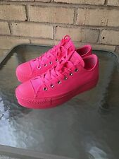 RARE Fluorescent HOT Pink Converse All Star Platform Sneakers Men 6.5 Womens 8.5