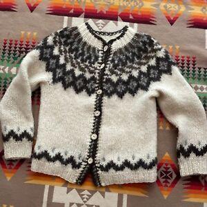 Hilda Ltd. Women's 100% Laine Wool Sweater Size XS S Icelandic