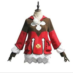 Anime Genshin Impact Klee Cosplay Costume Party Dress Women Halloween Outfit -.
