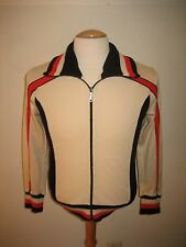 vintage white wool mix jersey shirt cycling trikot maillot eroica size 4, S