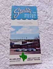 PAMPHLET STARLITE INN MOTOR HOTEL ABILENE TEXAS 1950'S