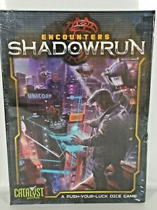 Encounters Shadowrun Board Game Card Game Dice Fantasy Science Fiction New Topps