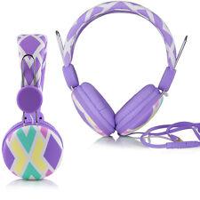 Urban Sound® Kopfhörer Headset Earphone + Mic für iPhone iPad iPod Samsung Lila