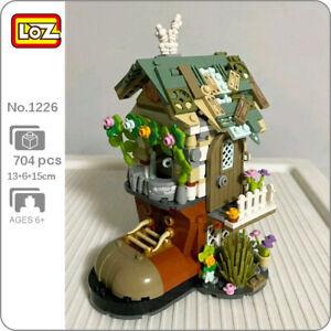 LOZ 1226 Forest Cabin Shoe House Rabbit Animal Flower Mini Blocks Building Toy
