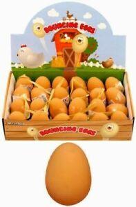 6 X Kid's Bouncy Eggs Jet Balls Fake Egg Rubber Children's Party Bag Filler Play