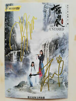 Signed Photo The Untamed UNIQ Yibo Wang Sean Xiao Autograph size10x15cm