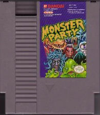 MONSTER PARTY with cosmetic flaws ORIGINAL NINTENDO GAME SYSTEM NES HQ