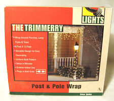 THE TRIMMERRY POST & POLE WRAP LIGHTS CLEAR BULBS CHRISTMAS TREE