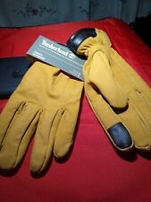 Timberland Touch Screen Technology Tan Leather Men's Gloves Size L