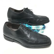 Men's Johnston Murphy XC4 Size 10M Oxfords Shoes Waterproof Black Sheepskin W5