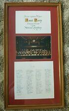 FRAMED JANET PERRY National Symphony Presentation Piece / Signed by L. Slatkin