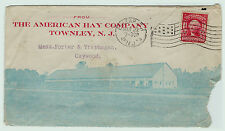 RARE ca 1907 Advertising Cover Envelope - All over - Townley NJ American Hay Co.