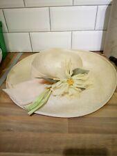 Ladies Peter Bettley cream floral Vintage Hat