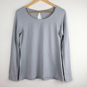 Columbia Omni-Wick Advanced Evaporation Gray Long Sleeve T-Shirt - Size Large