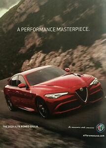 2019 Alfa Romeo Giulia Original Print Ad 8 x 10.5