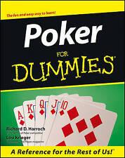 Poker for Dummies by Richard D. Harroch, Lou Krieger (Paperback, 2000)