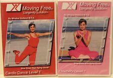 NEW 2 Moving Free Longevity Solution workout DVD lot cardio dance & flexibility