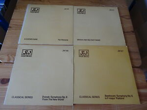 JW LIBRARY MUSIC - 4 VERSCHIEDENE LP SAMMLUNG 513, 515, 516 & 517