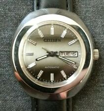 NOS Citizen automatic vintage watch, day/date, new old stock Gray Shade Dial