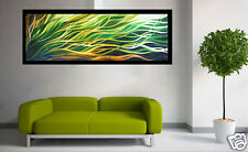 Aboriginal inspired Art Painting Mangrove Breeze  Abstract  180cm green yellow