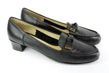 ROS HOMMERSON Black LOAFER PUMPS Slip On Heels FINE LEATHER Knotted Toe 10.5 N