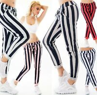 Italy Pantalón de Mujer Sudadera Baggy Jogpants Pantalones Informales Rayas Look