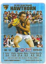 2008 Teamcoach Best & Fairest Silver [ BF-08 ] Brad SEWELL Hawthorn