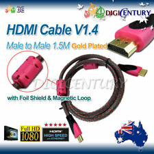 1.5M High Speed Pink 1.4v Flat White HDMI Cable Cord 3D HD PS4 for XBOX 1080P TV