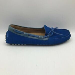 Cole Haan Mens Gunnison 2 Boat Shoes Blue Suede Leather Driving Mocs Loafers 8 D