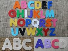FELT x26 LETTERS ALPHABET 4cm die cuts appliqués Personalise Kids Crafts VARIOUS
