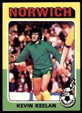 Topps Foootball 1975 Red/Grey (B1) Kevin Keelan Norwich City No. 154